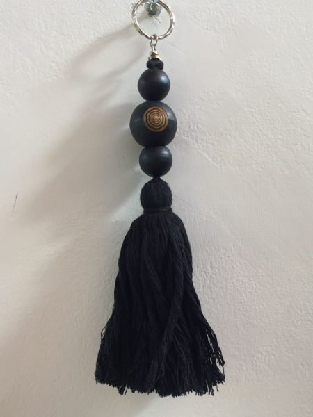 key ring tassel black