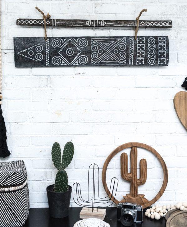 houten cactus, wooden cactus, madumadu cactus, sumba art, sumba madumadu art, ethnic chic madumadu